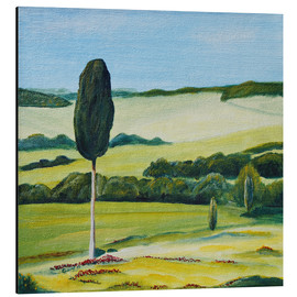 Christine Huwer - Lonely Cypress Tree on Terrapille Close to Pienza Tuscany