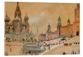 Albert Edelfelt - Moscow (Kremlin and St. Basil's Cathedral)