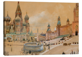 Canvas print  Moscow (Kremlin and St. Basil's Cathedral) - Albert Edelfelt