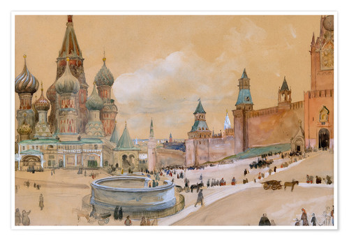 Premium poster Moscow (Kremlin and St. Basil's Cathedral)