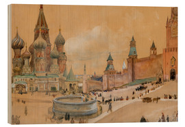Wood print  Moscow (Kremlin and St. Basil's Cathedral) - Albert Edelfelt