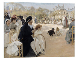 Foam board print  In the Luxembourg Gardens - Albert Edelfelt