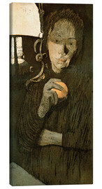 Canvas  Woman with Orange - Käthe Kollwitz