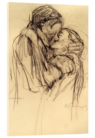 Acrylic glass  The kiss - Käthe Kollwitz