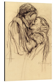 Alu-Dibond  The kiss - Käthe Kollwitz