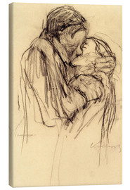 Canvas  The kiss - Käthe Kollwitz