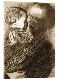 Acrylic glass  Mother with Child in her arms - Käthe Kollwitz