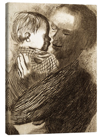 Canvas  Mother with Child in her arms - Käthe Kollwitz