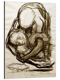 Alu-Dibond  Death takes a woman to be - Käthe Kollwitz