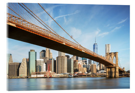Acrylic glass  Brooklyn bridge and Manhattan skyline at sunrise, New York city, USA - Matteo Colombo