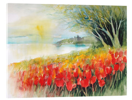 Acrylic glass  Tulips blossoms in Ueberlingen on Lake Constance - Eckard Funck