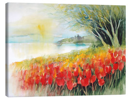 Canvas  Tulips blossoms in Ueberlingen on Lake Constance - Eckard Funck