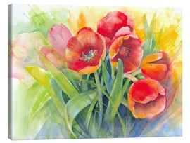 Canvas  tulips bouquet - Eckard Funck