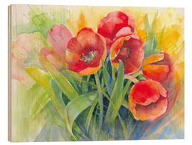 Wood  tulips bouquet - Eckard Funck