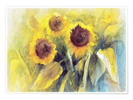 Premium poster sunflower