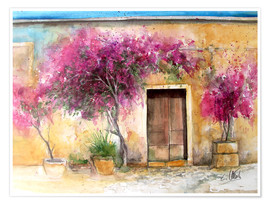 Poster Bougainvillea on Mallorca