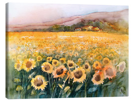 Canvas print  Sunflower field in the Luberon, Provence - Eckard Funck