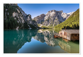 Premium poster  Braies Lake, Dolomites, South Tyrol - Achim Thomae