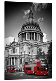 Acrylic print  LONDON St. Paul's Cathedral and Red Bus - Melanie Viola