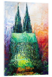 Acrylic glass  Cologne Cathedral Abstract - Renate Berghaus
