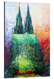 Aluminium print  Cologne Cathedral Abstract - Renate Berghaus