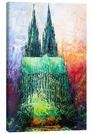 Canvas  Cologne Cathedral Abstract - Renate Berghaus