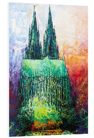 Foam board print  Cologne Cathedral Abstract - Renate Berghaus