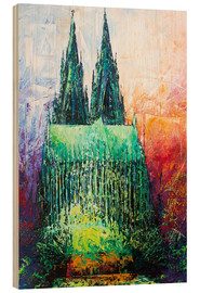 Wood print  Cologne Cathedral Abstract - Renate Berghaus