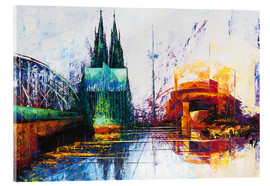 Acrylic print  Cologne Cathedral Skyline - Renate Berghaus