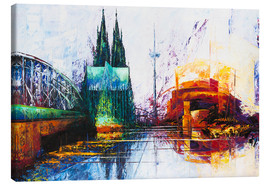Canvas print  Cologne Cathedral Skyline - Renate Berghaus