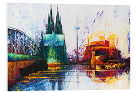 Foam board print  Cologne Cathedral Skyline - Renate Berghaus