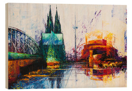 Wood  Cologne Cathedral Skyline - Renate Berghaus