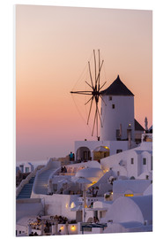 Foam board print  Santorini sunset - Thomas Klinder