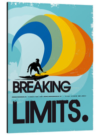 Alu-Dibond  Retro Surfer Design breaking limits art print - 2ToastDesign