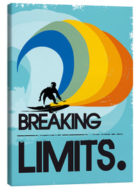 Canvas  Retro Surfer Design breaking limits art print - 2ToastDesign