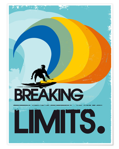 Premium poster Surfer, Breaking limits