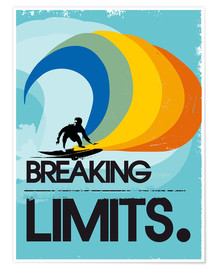 2ToastDesign - Retro Surfer Design breaking limits art print