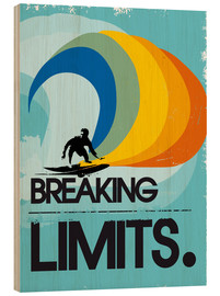 Wood print  Surfer, Breaking limits - 2ToastDesign