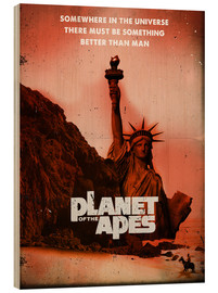 Wood print  Planet of the Apes - 2ToastDesign