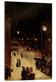 Acrylic glass  Road at night - Lesser Ury