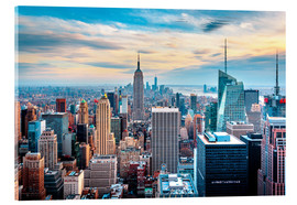 Acrylic print  Top Of The Rock, New York City - Sascha Kilmer