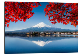 Alu-Dibond  Mount Fuji at the lake Kawaguchiko in Japan - Jan Christopher Becke