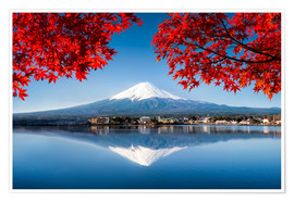 Jan Christopher Becke - Mount Fuji at the lake Kawaguchiko in Japan