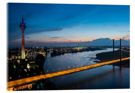Acrylic glass  Dusseldorf Skyline at night - rclassen