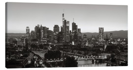 Canvas  Frankfurt skyline black and white - rclassen