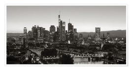 Premium poster  Frankfurt skyline black and white - rclassen
