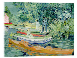Acrylic glass  Bank of the Oise at Auvers - Vincent van Gogh