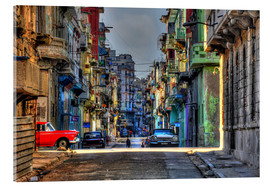 Acrylic glass  In the streets of Havana - HADYPHOTO by Hady Khandani