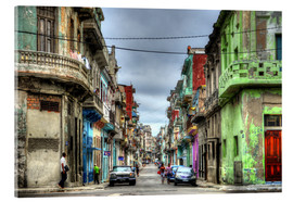 Acrylic print  In the streets of Havana - HADYPHOTO