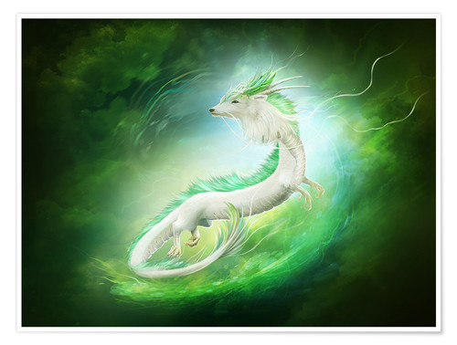 Premium poster White dragon